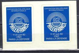 France 1982 Précurseurs Autocollants Vignette De L'exposition Philatelique PHILEXFRANCE - France