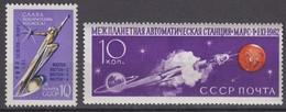 Russia, USSR 03/17.11.1962 Mi # 2572, 2576,Automatic Interplanetary Station Mars-1 Launch (I-II), MNH OG - Nuevos
