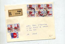 Lettre Recommandée Vire Sur Coq - Marcophilie (Lettres)