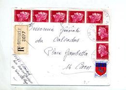 Lettre Recommandée Siouville Sur Cheffer - Marcophilie (Lettres)