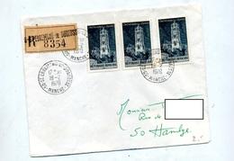 Lettre Recommandée Saint Ebremond Sur Rodez - Marcophilie (Lettres)