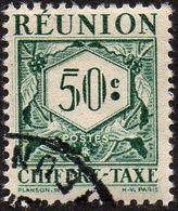 Réunion Obl. N° Taxe 28 - Le 50 Cts Vert - Réunion (1852-1975)