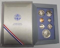 SÉRIE DE 7 PIÈCES FLEURS DE COINS 1986 USA - France