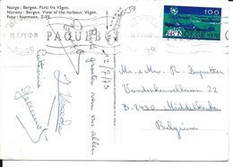 PK. NOORWEGEN - BERGEN  ZEGEL MI NR 607 -1970 - Brieven En Documenten
