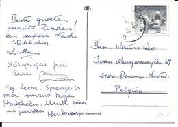 PK. STOCKHOLM - ZEGEL MI NR 1378 - 1986 - Lettres & Documents