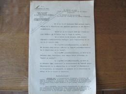 LILLE ARRAS 15 FEVRIER 1941 PREFECTURE ARRÊTE APPROVISIONNEMENT EN VIANDE DE BOUCHERIE 2ème BUREAU ET RAVITAILLEMENT GEN - Documents Historiques