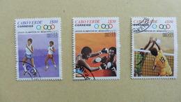 Afrique > Cap Vert : 3 Timbres Oblitérés - Cap Vert