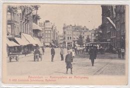 Amsterdam Koningsplein En Heiligeweg Levendig Paardentram   2277 - Amsterdam