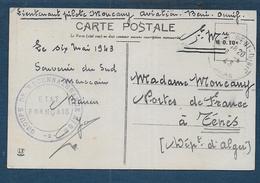 Cachet Etat Français - Groupe De Reconnaissance 2/52 ( Aviation En Algérie En 1943 ) - Storia Postale