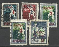 LETTLAND Latvia 1920 Michel 60 - 63 O - Lettonie