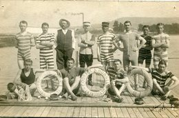 Carte PHoto 22 ème Brigade Ain Sud Sauvetage En Mer Dont Soldat Du 5 ème Régiment à Nancy En 1908 - Personaggi
