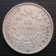 10 Francs 1965 En Argent, Jolie Pièce ! - Francia
