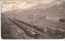 NORGE GOEDEREN WAGONS PARTI FRA NARVIK  MALMKAIEN 1907 Stempel 1433 D6 - Trains
