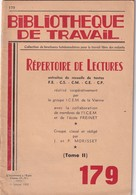 Bibliothèque De Travail, N° 171, Le Portage (2) Bêtes De Somme Et Traineaux 1951 - 6-12 Ans