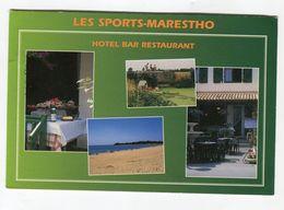 Cpm - LES SPORTS MARESTHO Hotel Bar Restaurant - LONGEVILLE SUR MER - Francia