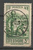 COTE D'IVOIRE N° 129 CACHET KOROKO - Usados