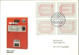 ATM - Windsor Berkshire 1984 - Post & Go Stamps