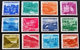 PAYSAGES D'ISRAËL 1971/75 - NEUFS ** - YT 458/69 - MI 524/35 - Israel