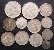 France Lot De Monnaies En Argent,  Turin Semeuse Voir Descriptif Et Photos - Francia