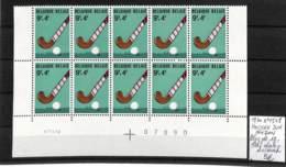 [409877]TB//**/Mnh-Belgique 1970 - N° 1548, Bloc De 10, Cdf Daté, Hockey (Sur Gazon) - Hockey (sur Gazon)