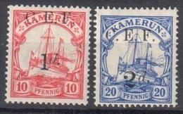 Kamerun Cameroon Occupation Of German Colony Mh * 29 Euros (1d Is Rare Black Overprint) - Colony: Cameroun