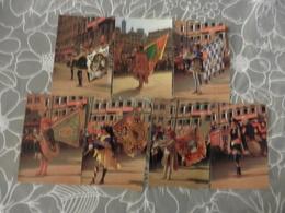 LOT  DE 7  CARTES  POSTALES   NEUVES  SUR  LE  CARNAVAL  DE  SIENNE .  ITALIE - Cartes Postales