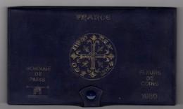 SÉRIE DE 10 PIÈCES FLEURS DE COINS 1980 MONNAIE DE PARIS - France
