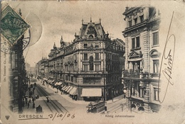 Dresda 04 - Dresden - Konig Johanstrasse 1906 - Dresden