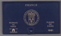 SÉRIE DE 9 PIÈCES FLEURS DE COINS 1981 MONNAIE DE PARIS - France
