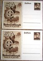 2 Ungebrauchte Ganzsachen SA Reichswettkämpfe 1938 - Interi Postali