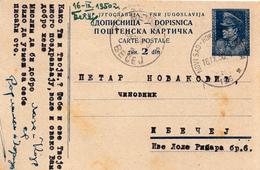 TPO , PS WITH RAILWAY CANCEL 156 NOVI SAD - HORGOS - SUBOTICA - Postal Stationery