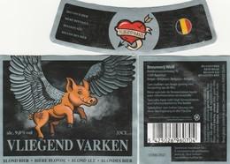 Etiket   Br   Wolf  GEBRUIKT - Bière