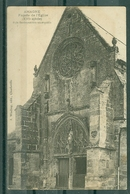 08 - AMAGNE - Façade De L'Eglise (XVI° Siècle) Style Flamboyant Très Remarquable (Carte Taxée En Belgique Et Refusée) - Autres Communes