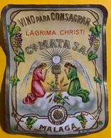 12364 -  Vino Para Consagrar Lagrima Christi MATA Sa Malaga  Ancienne étiquette - Other