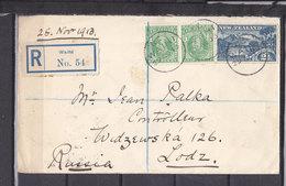 NOUVELLE ZELANDE LETTRE RECOMMANDEE DE WAIHI POUR LA RUSSIE - 1907-1947 Dominion