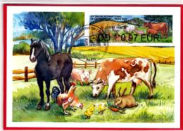 Atm-Lisa / Brother / CM  LV 0.97 €  Obl 22.02.2020 Salon De L'agriculture 2020 - 2010-... Vignettes Illustrées