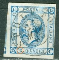 Italie  Sassone 12c  Ob  TB  Variété  O Fermé   Obli  Spoleto Mai 1863 - 1861-78 Vittorio Emanuele II