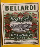 12373 - Vermouth Bellardi  2 Anciennes étiquettes - Etiquettes