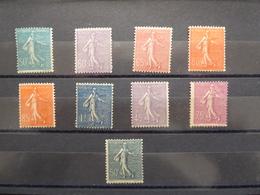 FRANCE 10 Cts Type SEMEUSE LIGNEE  9 Différents Cote 230 €  Neufs Sans Charnière MNH - 1903-60 Semeuse Lignée
