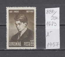20K886 / 1957 Michel Nr. 1683 - Endre Ady Was A Turn-of-the-century Hungarian Poet And Journali ** MNH Romania Rumanien - Unused Stamps