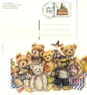 5170  Ours En Peluche: Entier (c.p.) Suisse, 2002 -  Teddy Bear Stationery Postcard From Switzerland - Puppen