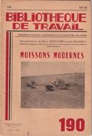 Bibliothèque De Travail, N° 190, Moissons Modernes 1952 - 6-12 Ans