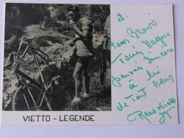 Carte Bristol - René VIETTO  - Signé / Hand Signed / Dédicace Authentique / Autographe - Cyclisme