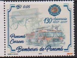 PANAMA, 2018, MNH, FIRE ENGINES, FIREMEN, FIREMEN OF PANAMA, 1v - Other