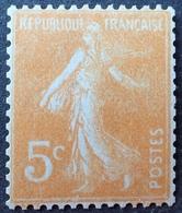 R1615/1897 - 1921/1922 - TYPE SEMEUSE FOND PLEIN - ROULETTE - N°158c (IIB) NEUF* - Francobolli In Bobina