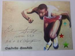 Carte Photo - Calvin SMITH - Signé / Hand Signed / Dédicace Authentique / Autographe - Athlétisme
