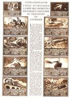 """Reportage """" VIGNETTES AUTRICHIENNES RESUMANT L'HISTOIRE DU TRANSPORT DU COURRIER """" 1933 ( 1 ) - Autres"""