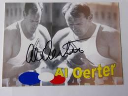 Carte Photo - Al OERTER - Signé / Hand Signed / Dédicace Authentique / Autographe - Athlétisme