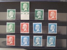 FRANCE Type Pasteur Complet N° 170  à 181  Neufs Sans Charnière MNH - 1922-26 Pasteur