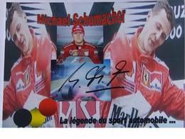 Carte Photo - Michael SCHUMACHER - Signé / Hand Signed / Dédicace Authentique / Autographe - Grand Prix / F1